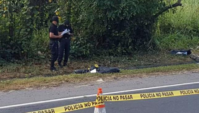 Microbús habría sido ocupado para abandonar el cadáver de una persona en Ciudad Delgado
