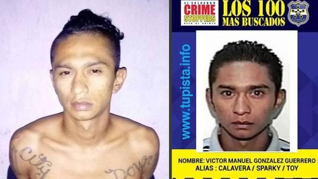 Capturan en San Salvador a pandillero que figuraba en la lista de los 100 más buscados