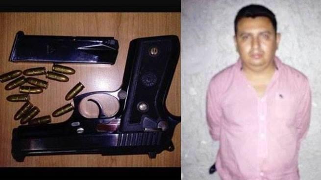 Detienen a sujeto que amenazó con una pistola a clientes de un bar en San Salvador