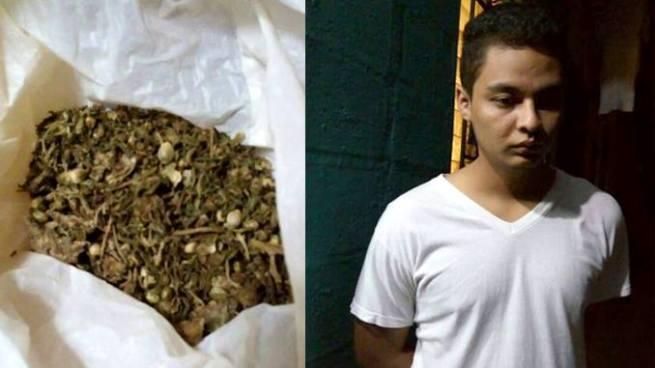 Policía allana casa en el barrio San Jacinto y capturan a sujeto con droga