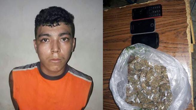 Con droga y varios celulares fue capturado un joven por la PNC en San Miguel