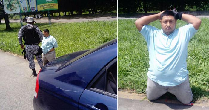 PNC de San Juan Opico captura a sujeto que lesionó de bala a agente PPI para robarle su auto