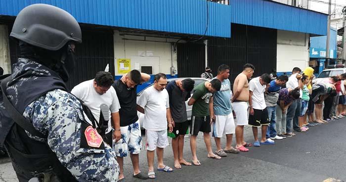 Operativo deja la captura de al menos 70 miembros de la MS en San Salvador