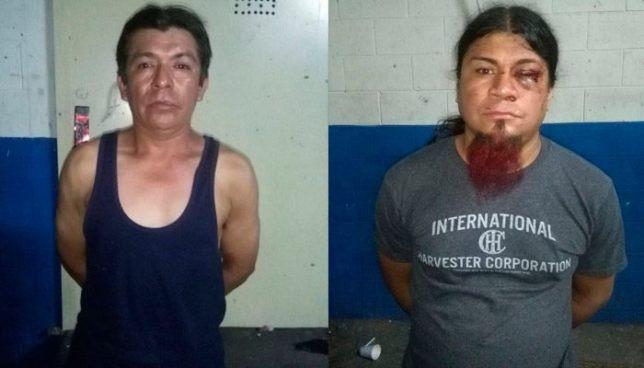 Capturan a sujetos en el centro de San Salvador, uno de ellos por golpear a una anciana