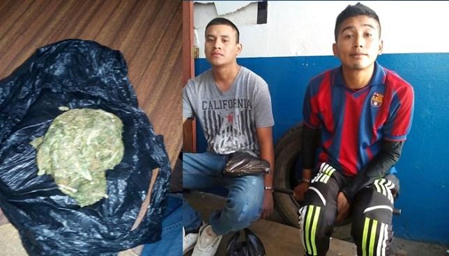 Policía de Ahuachapán captura a dos jóvenes por tráfico de droga y agrupaciones ilícitas