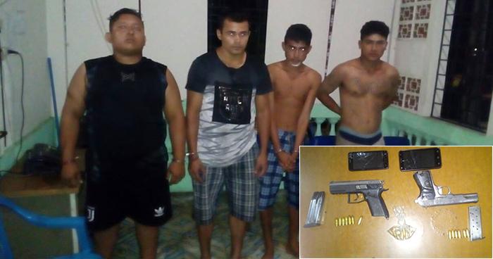 Policía arresta a cuatro peligrosos pandilleros en la playa El Majahual, La Libertad