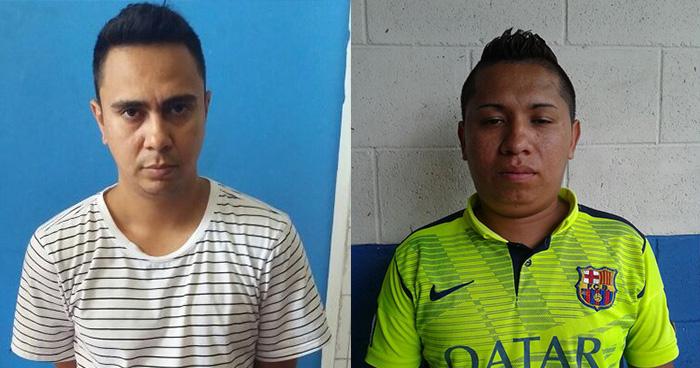 Policía de San Salvador captura a dos sujetos por el delito de extorsión