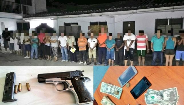 Capturan en San Vicente y Sonsonate a más de una treintena de sujetos acusados por diversos delitos