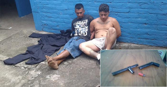 Caen en Sonsonate sujetos que tenían en su poder un uniforme policial y un «trabuco»