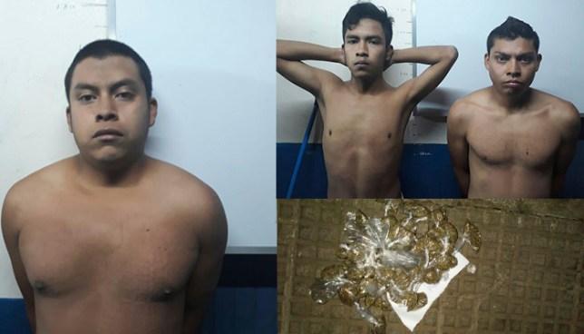 Policía de Sonsonate captura a sujetos acusados de homicidio y tráfico de droga