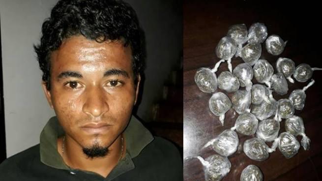 Capturan a joven con 26 porciones de marihuana en Sonsonate