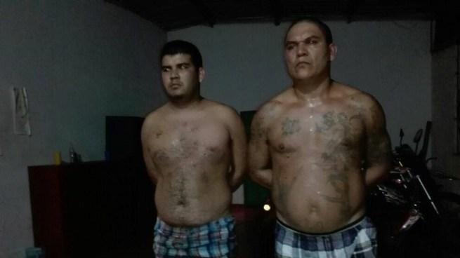 """Detienen al """"Greñas"""" y al """"Tunca"""", reconocidos miembros de la Mara Salvatrucha"""