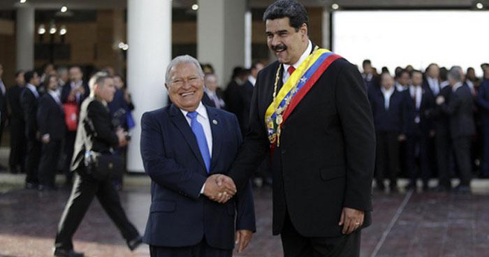 Presidente de El Salvador reitera su apoyo al Presidente de Venezuela, Nicolás Maduro