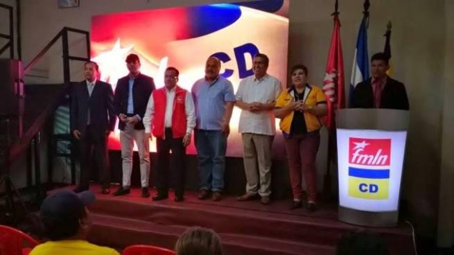 FMLN y CD anuncian primer coalición para ganar diputaciones por La Libertad