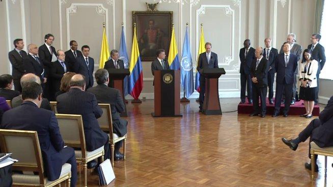 La ONU realizara la verificación de proceso de paz en Colombia