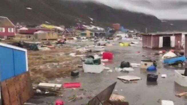 Tsunami en Groenlandia deja al menos 4 personas desaparecidas