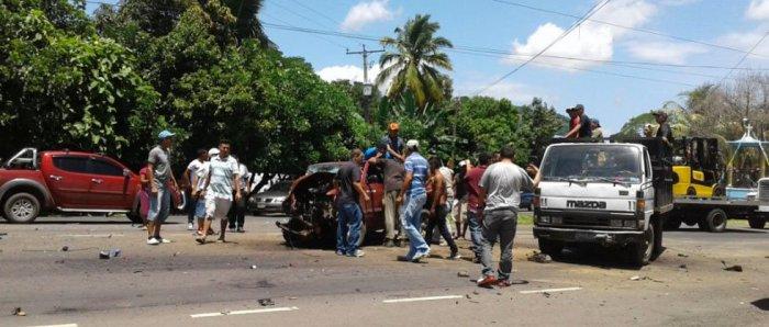 Una persona fallecida deja un accidente de tránsito en San Vicente