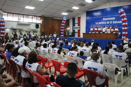 ARENA presenta su nomina de candidatos a diputados para las elecciones internas