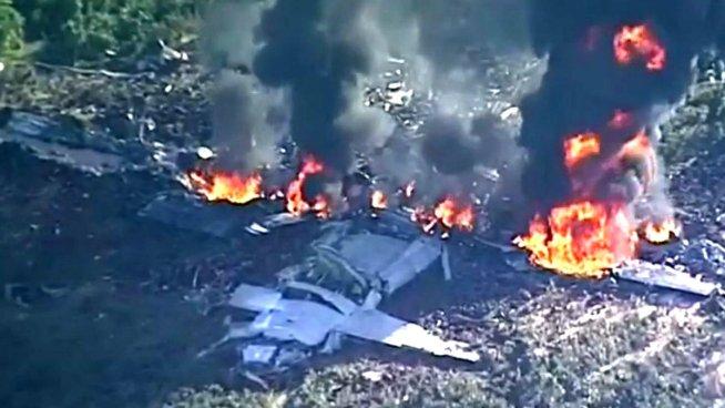Al menos 16 fallecidos tras estrellarse avión militar en Estados Unidos