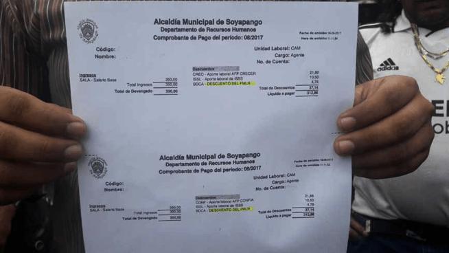 CAM de Soyapango denuncia que alcaldía les descuenta cuota obligatoria para el FMLN