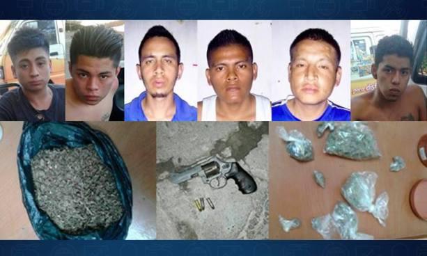 Capturan en San Salvador siete presuntos distribuidores de droga