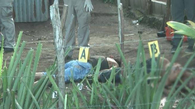 Hombre y mujer asesinados esta tarde en Mercedes Umaña, Usulután