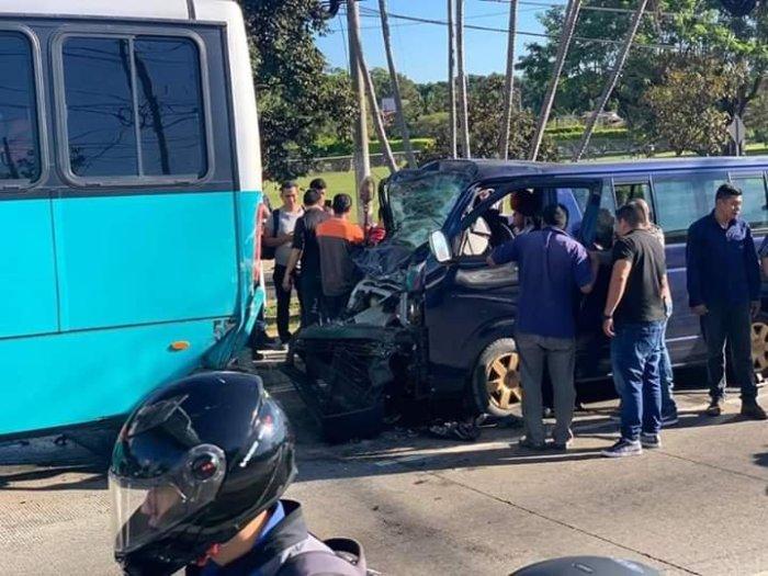 Multiples accidentes de tránsito en La Libertad