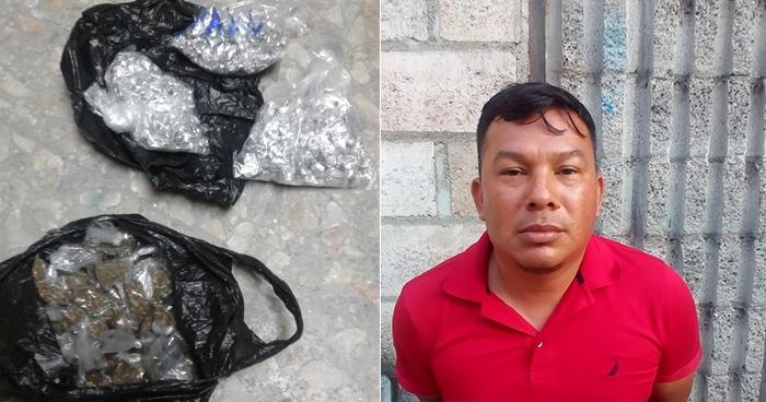 Capturan en Soyapango a sujeto que pretendía comercializar más de 300 porciones de droga
