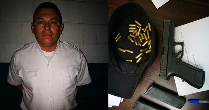 PNC captura a vigilante privado que disparó contra una familia en San Salvador