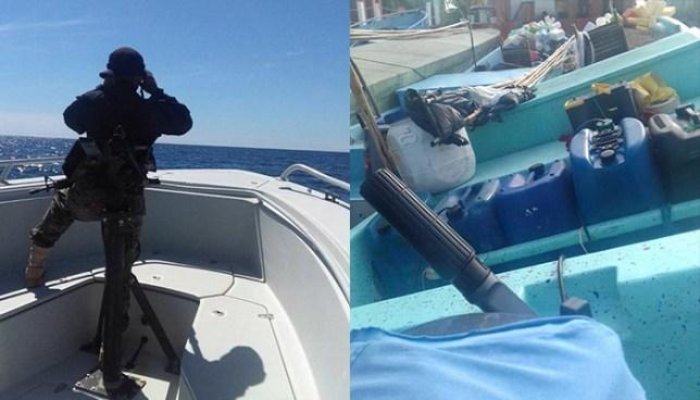Fuerza Naval localiza embarcación con paquetes sospechosos en costas de Sonsonate