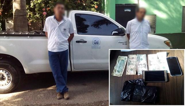 Atrapan a dos empleados de la alcaldía de San Salvador por extorsión