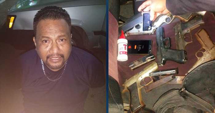 Cae en Sonsonate sujeto que portaba armas que eran usadas por pandilleros para delinquir