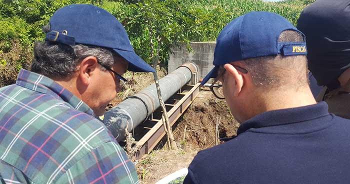Fiscalía inspecciona zona donde fue vandalizada tubería de ANDA