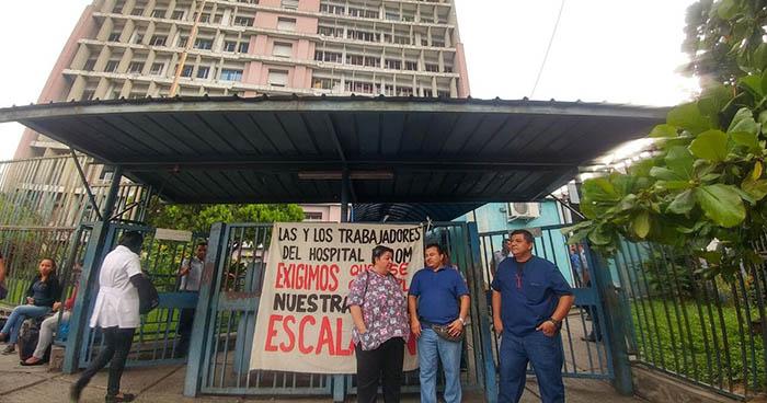 Sindicatos de hospitales nacionales realizan protestas en exigencia al pago del escalafón