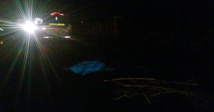 Hombre pierde la vida tras ser arrollado por un vehículo en Coatepeque, Santa Ana