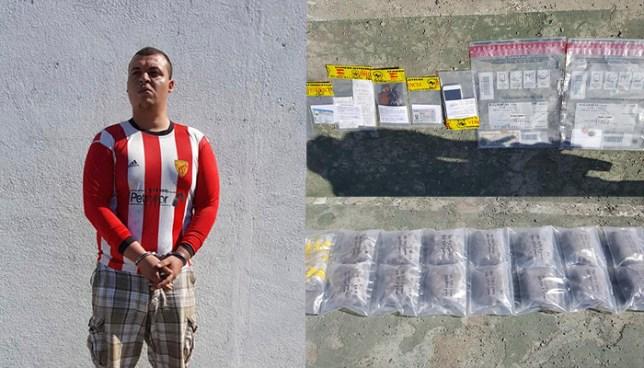 Arrestan en Usulután a sujeto que transportaba droga en un vehículo