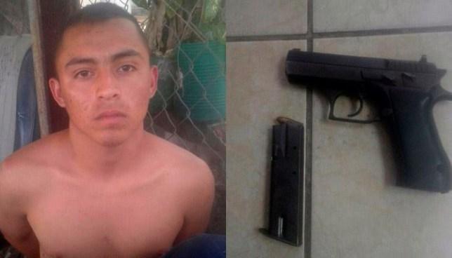 Capturan en Ilopango a pandillero que intentó darse a la fuga con un arma de fuego