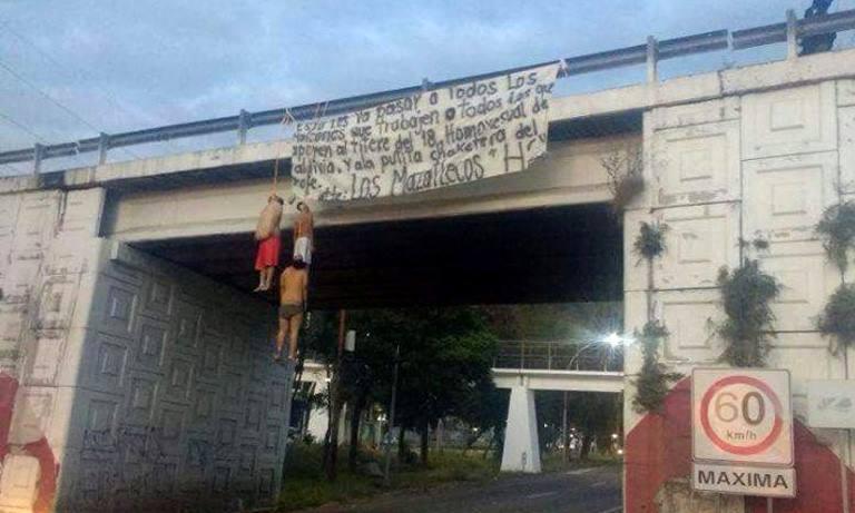 Dejan tres cuerpos colgados y 'narcomanta' en Tepic — Nayarit