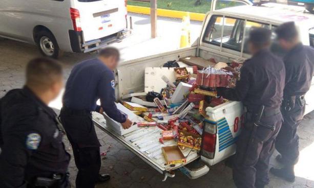 PNC incautó más de 125 mil unidades de productos pirotécnicos durante festividades de fin de año