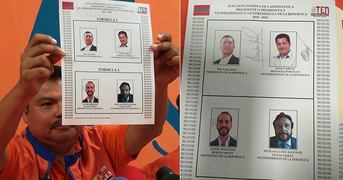 GANA hace oficial la inscripción de sus precandidatos a la presidencia y vicepresidencia