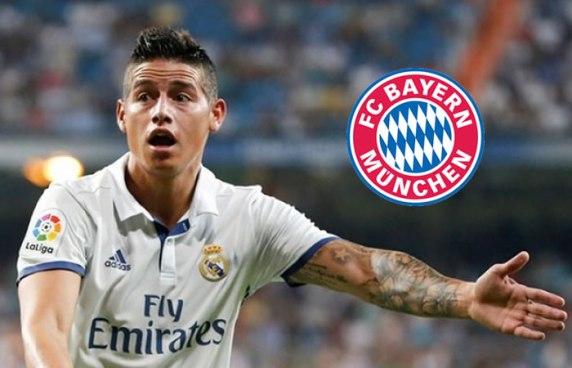 James se va cedido al Bayern Múnich por 2 temporadas