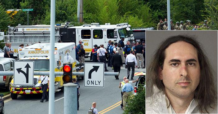 """Sujeto que mató a cinco personas en un periódico de EE.UU actuó por """"venganza"""""""