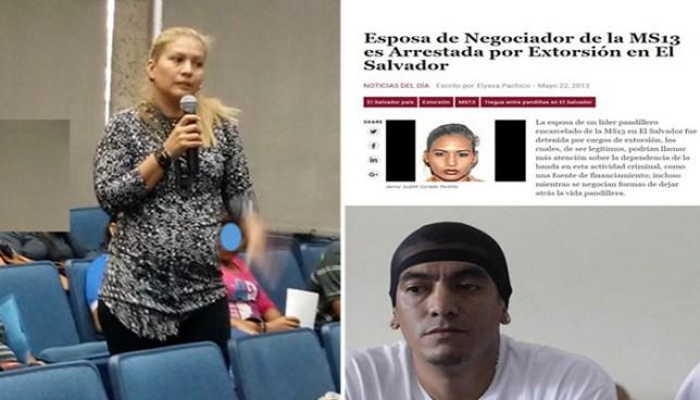 Esposa del cabecilla 'Diablito de Hollywood' participó en foro sobre ejecuciones extrajudiciales