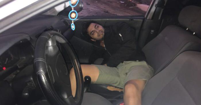 Joven borracho se accidenta y casi arrolla a ciclistas en la carretera al Puerto de La Libertad