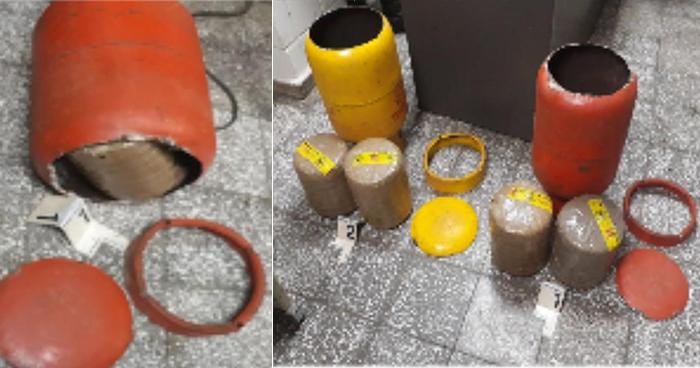 Capturan a pareja que usaba tambos de gas para transportar marihuana en Ahuachapán