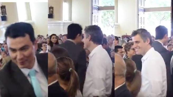 Miguel Pereira hace pasar un incomodo momento a Carlos Calleja al intentar ignorarlo