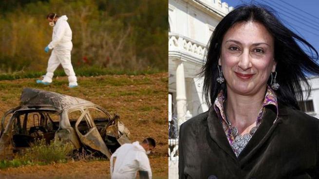 """Explotan auto de periodista que lidero denuncia del caso """"Papeles de Panamá"""" en Malta"""