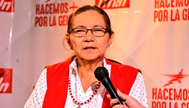 """""""Vamos a ganar las presidenciales"""" dice Norma Guevara del FMLN"""