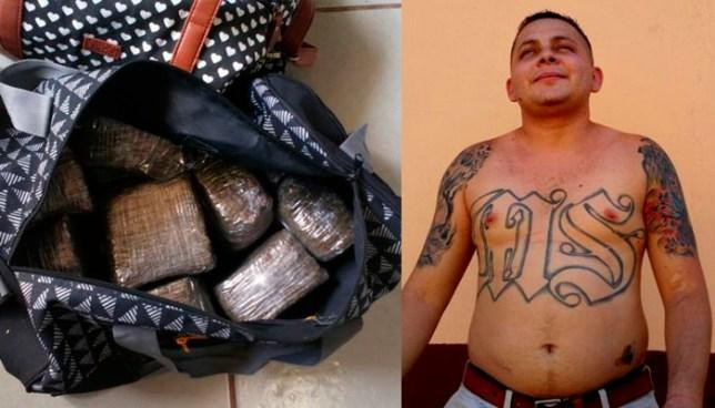 Capturan con alijo de droga, a pandillero acusado de asesinar a una mujer, en San Miguel