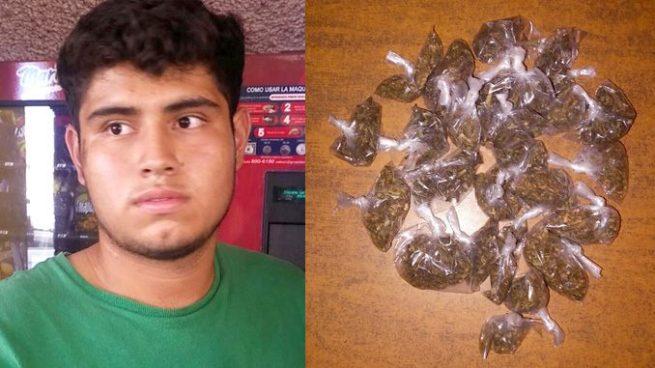 Con más de 20 porciones de marihuana capturan a un joven en Sonsonate